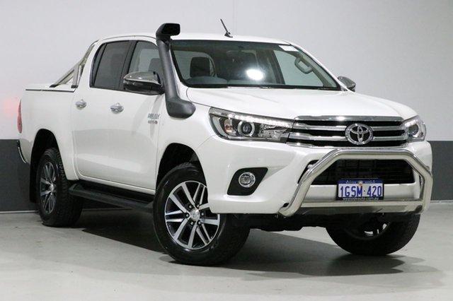 Used Toyota Hilux GUN126R SR5 (4x4), 2017 Toyota Hilux GUN126R SR5 (4x4) White 6 Speed Automatic Dual Cab Utility