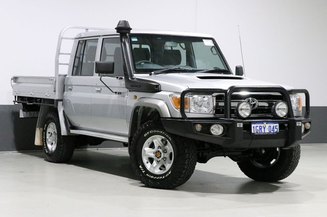 Used Toyota Landcruiser VDJ79R MY12 Update GXL (4x4), 2016 Toyota Landcruiser VDJ79R MY12 Update GXL (4x4) Silver 5 Speed Manual Double Cab Chassis