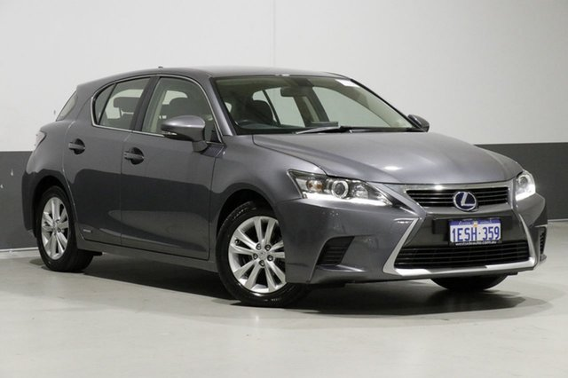 Used Lexus CT 200H. Hybrid ZWA10R MY15 Luxury, 2015 Lexus CT 200H. Hybrid ZWA10R MY15 Luxury Grey Continuous Variable Hatchback