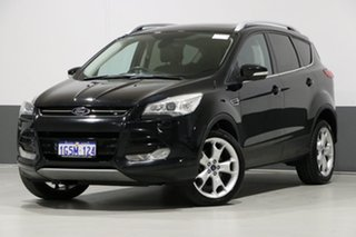 2013 Ford Kuga TF Titanium (AWD) Black 6 Speed Automatic Wagon.