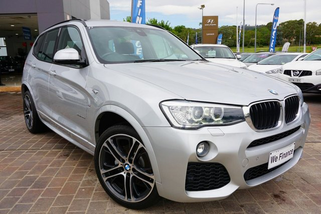 Used BMW X3 F25 LCI MY0414 xDrive20d Steptronic, 2015 BMW X3 F25 LCI MY0414 xDrive20d Steptronic Silver 8 Speed Automatic Wagon