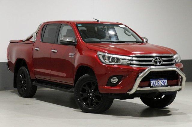 Used Toyota Hilux GUN126R MY17 SR5 (4x4), 2017 Toyota Hilux GUN126R MY17 SR5 (4x4) Red 6 Speed Automatic Dual Cab Utility