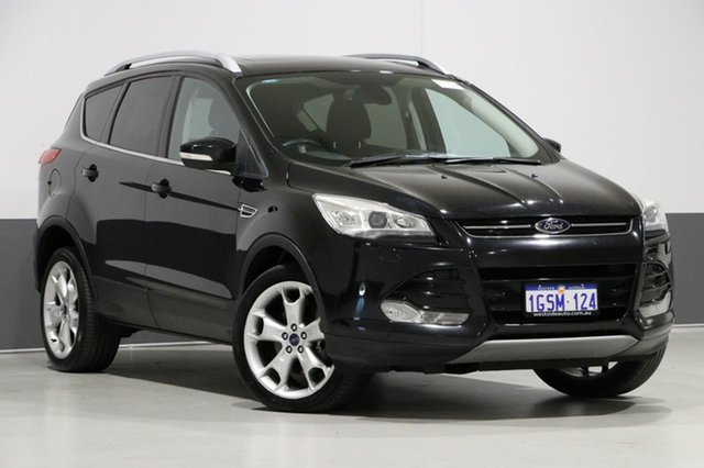 Used Ford Kuga TF Titanium (AWD), 2013 Ford Kuga TF Titanium (AWD) Black 6 Speed Automatic Wagon