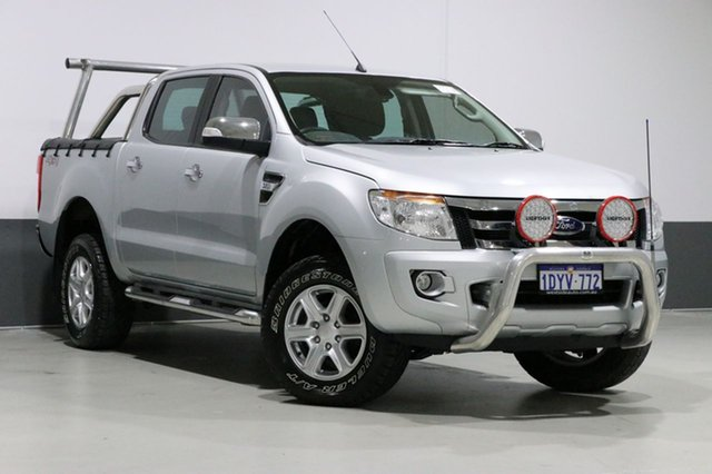 Used Ford Ranger PX XLT 3.2 (4x4), 2012 Ford Ranger PX XLT 3.2 (4x4) Silver 6 Speed Manual Dual Cab Utility