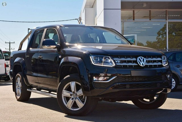 Demo Volkswagen Amarok 2H MY18 TDI550 4MOTION Perm Highline, 2018 Volkswagen Amarok 2H MY18 TDI550 4MOTION Perm Highline Black 8 Speed Automatic Utility