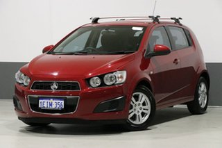2013 Holden Barina TM MY14 CD Red 6 Speed Automatic Hatchback.