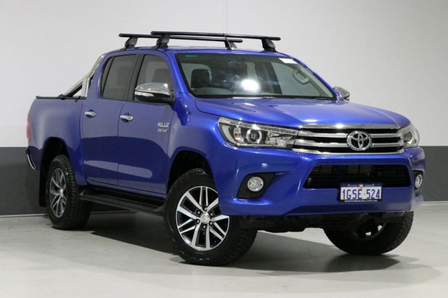 Used Toyota Hilux GUN126R SR5 (4x4), 2015 Toyota Hilux GUN126R SR5 (4x4) Blue 6 Speed Manual Dual Cab Utility