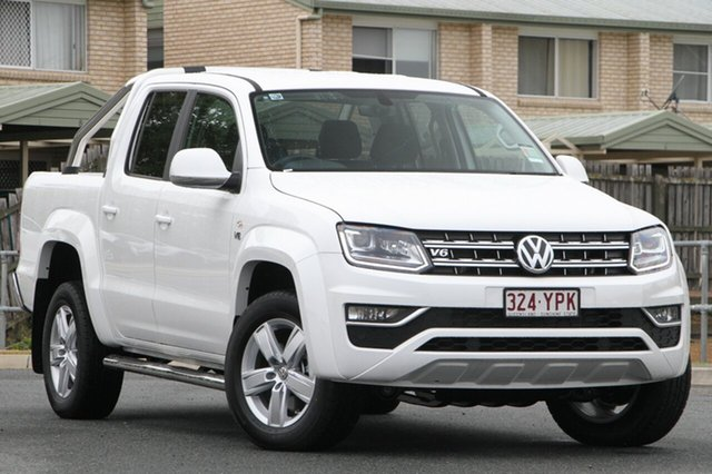 Demo Volkswagen Amarok 2H MY18 TDI550 4MOTION Perm Highline, 2018 Volkswagen Amarok 2H MY18 TDI550 4MOTION Perm Highline Candy White 8 Speed Automatic Utility