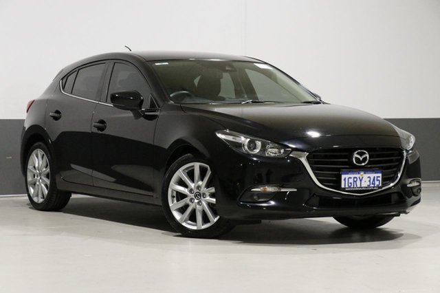 Used Mazda 3 BM MY15 SP25, 2016 Mazda 3 BM MY15 SP25 Black 6 Speed Automatic Hatchback