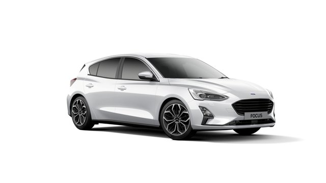 New Ford Focus SA 2019MY Titanium, 2018 Ford Focus SA 2019MY Titanium Frozen White 8 Speed Automatic Hatchback