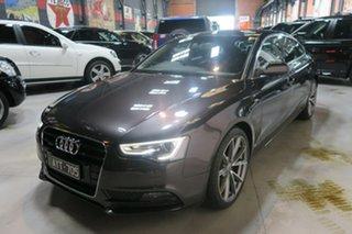 2012 Audi A5 8T MY13 Sportback S tronic quattro Grey 7 Speed Sports Automatic Dual Clutch Hatchback