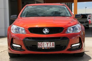 2016 Holden Commodore VF II MY16 SV6 Black Orange 6 Speed Sports Automatic Sedan