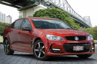 2016 Holden Commodore VF II MY16 SV6 Black Orange 6 Speed Sports Automatic Sedan.