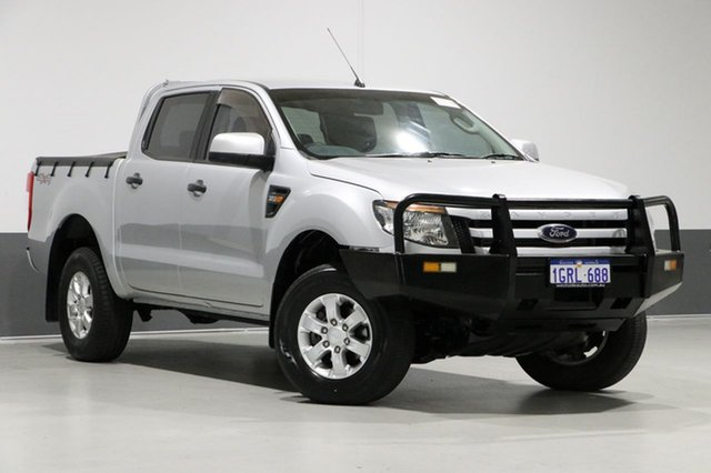 Used Ford Ranger PX XLS 3.2 (4x4), 2014 Ford Ranger PX XLS 3.2 (4x4) Silver 6 Speed Automatic Dual Cab Utility