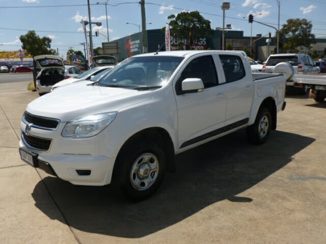 Used Holden Colorado RG MY15 LS (4x2), 2014 Holden Colorado RG MY15 LS (4x2) White 6 Speed Automatic Crew Cab Pickup