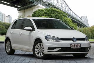 2018 Volkswagen Golf 7.5 MY18 110TSI Trendline White 6 Speed Manual Hatchback.