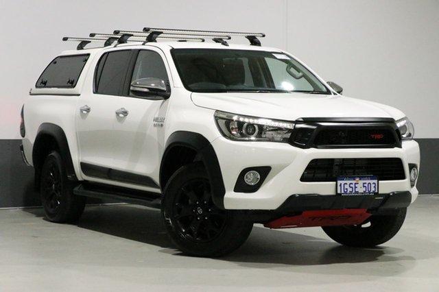 Used Toyota Hilux GUN126R TRD Black (4x4), 2017 Toyota Hilux GUN126R TRD Black (4x4) White 6 Speed Automatic Dual Cab Utility