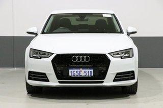 2017 Audi A4 F4 MY17 (B9) 2.0 TFSI S Tronic Sport White 7 Speed Auto Dual Clutch Sedan.