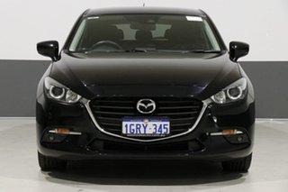 2016 Mazda 3 BM MY15 SP25 Black 6 Speed Automatic Hatchback.