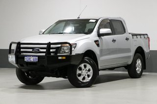 2014 Ford Ranger PX XLS 3.2 (4x4) Silver 6 Speed Automatic Dual Cab Utility.