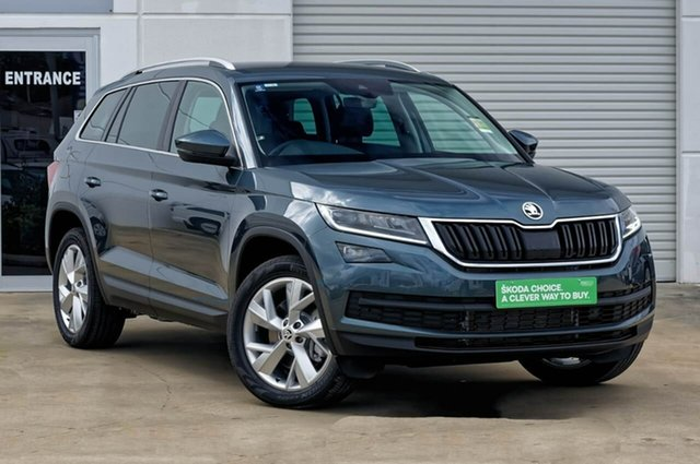Demo Skoda Kodiaq NS MY19 132TSI DSG, 2018 Skoda Kodiaq NS MY19 132TSI DSG Quartz Grey 7 Speed Sports Automatic Dual Clutch Wagon