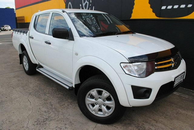 Used Mitsubishi Triton MN MY15 GLX Double Cab, 2014 Mitsubishi Triton MN MY15 GLX Double Cab Solid White 5 Speed Manual Utility