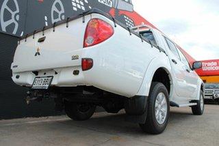 2014 Mitsubishi Triton MN MY15 GLX Double Cab Solid White 5 Speed Manual Utility