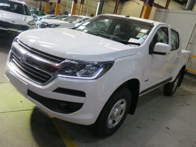 New Holden Colorado RG MY19 LS Pickup Crew Cab, 2018 Holden Colorado RG MY19 LS Pickup Crew Cab Summit White 6 Speed Sports Automatic Utility