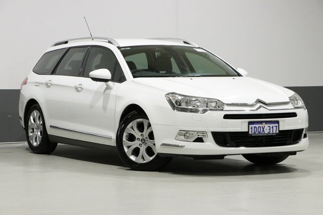 Used Citroen C5 X7 MY10 2.0 HDI Comfort Tourer, 2011 Citroen C5 X7 MY10 2.0 HDI Comfort Tourer White 6 Speed Automatic Wagon