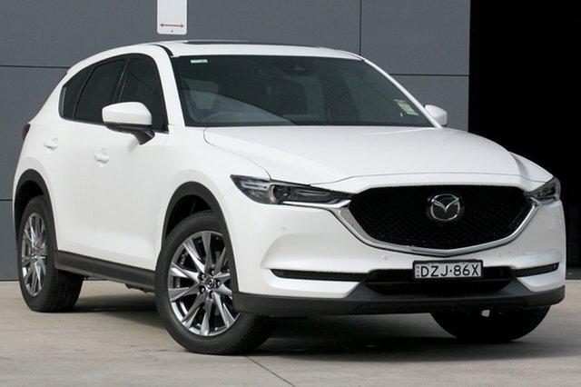 Demo Mazda CX-5 KF4WLA Akera SKYACTIV-Drive i-ACTIV AWD, 2018 Mazda CX-5 KF4WLA Akera SKYACTIV-Drive i-ACTIV AWD Snowflake White 6 Speed Sports Automatic