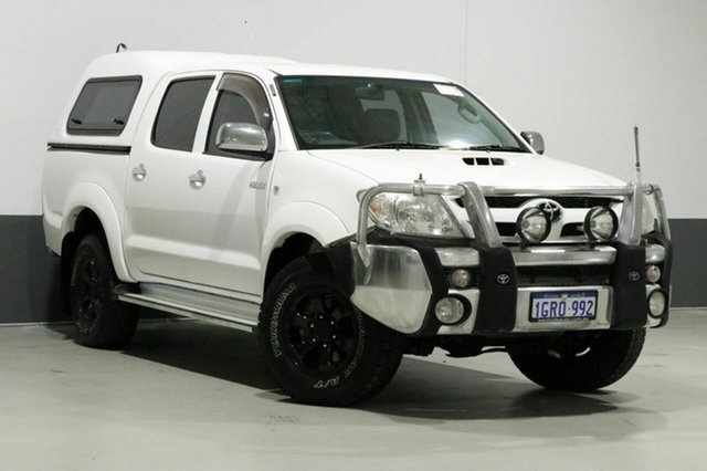 Used Toyota Hilux KUN26R MY11 Upgrade SR5 (4x4), 2011 Toyota Hilux KUN26R MY11 Upgrade SR5 (4x4) White 4 Speed Automatic Dual Cab Pick-up