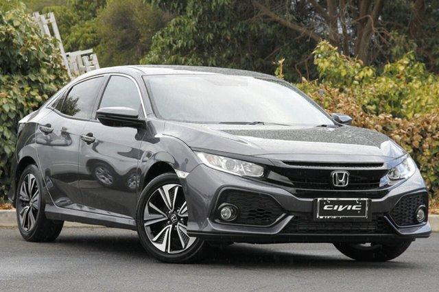 Used Honda Civic 10th Gen MY18 VTi-L, 2018 Honda Civic 10th Gen MY18 VTi-L Modern Steel 1 Speed Constant Variable Hatchback