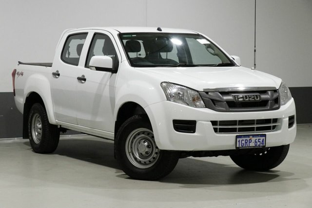 Used Isuzu D-MAX TF MY15 SX (4x4), 2015 Isuzu D-MAX TF MY15 SX (4x4) White 5 Speed Automatic Crew Cab Chassis