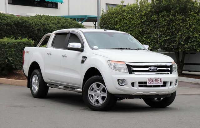 Used Ford Ranger PX XLT Double Cab, 2014 Ford Ranger PX XLT Double Cab White 6 Speed Sports Automatic Utility