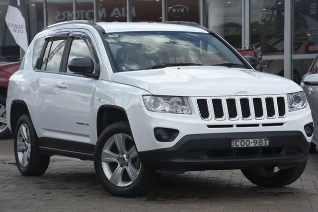 Used Jeep Compass MK MY12 Sport, 2012 Jeep Compass MK MY12 Sport White 5 Speed Manual SUV