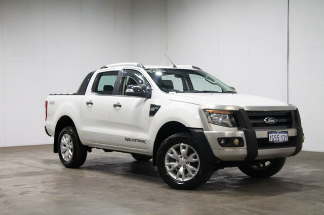 Used Ford Ranger PX Wildtrak Double Cab, 2012 Ford Ranger PX Wildtrak Double Cab White 6 Speed Manual Utility