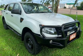 2015 Ford Ranger PX XL Double Cab White 6 Speed Automatic Utility.