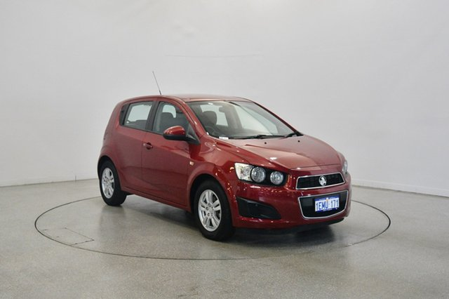 Used Holden Barina TM MY14 CD, 2014 Holden Barina TM MY14 CD Red 5 Speed Manual Hatchback