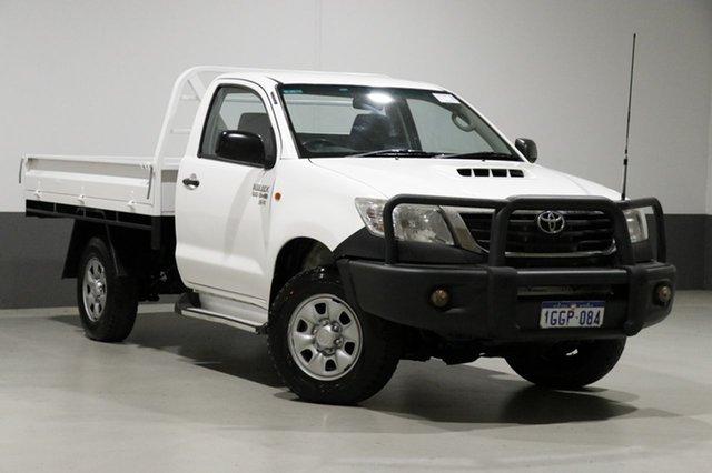 Used Toyota Hilux KUN26R MY12 SR (4x4), 2013 Toyota Hilux KUN26R MY12 SR (4x4) White 5 Speed Manual Cab Chassis