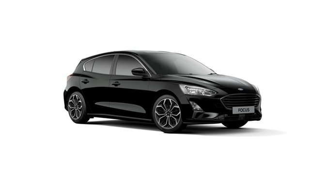 New Ford Focus SA 2019MY Titanium, 2018 Ford Focus SA 2019MY Titanium Shadow Black 8 Speed Automatic Hatchback
