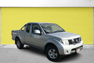 2011 Nissan Navara D40 MY11 ST-X King Cab Silver 6 Speed Manual Utility.