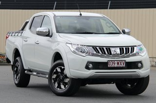 2016 Mitsubishi Triton MQ MY16 Exceed Double Cab White 5 Speed Sports Automatic Utility.