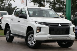 2020 Mitsubishi Triton MR MY20 GLX+ Double Cab White 6 Speed Sports Automatic Utility.