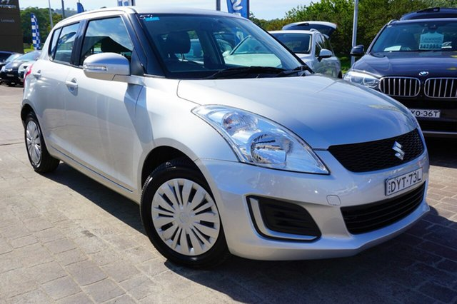 Used Suzuki Swift FZ MY15 GL, 2016 Suzuki Swift FZ MY15 GL Silver 4 Speed Automatic Hatchback