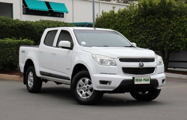 Used Holden Colorado RG MY14 LT Crew Cab, 2013 Holden Colorado RG MY14 LT Crew Cab White 6 Speed Sports Automatic Utility