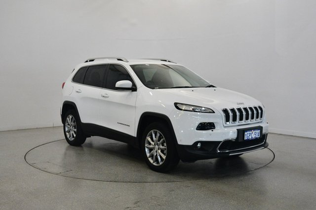 Used Jeep Cherokee KL MY17 Limited, 2017 Jeep Cherokee KL MY17 Limited Bright White 9 Speed Sports Automatic Wagon