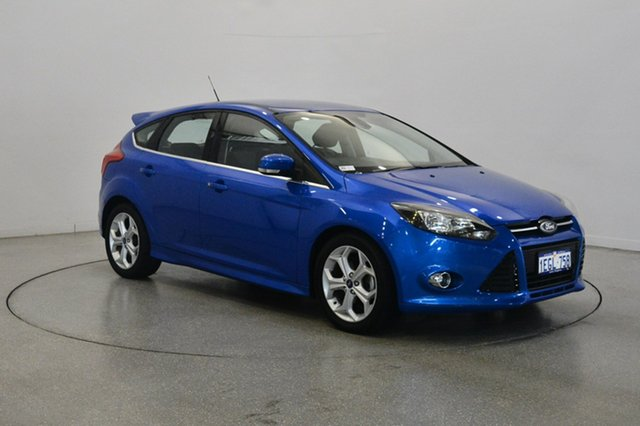 Used Ford Focus LW MkII Sport PwrShift, 2013 Ford Focus LW MkII Sport PwrShift Blue 6 Speed Sports Automatic Dual Clutch Hatchback