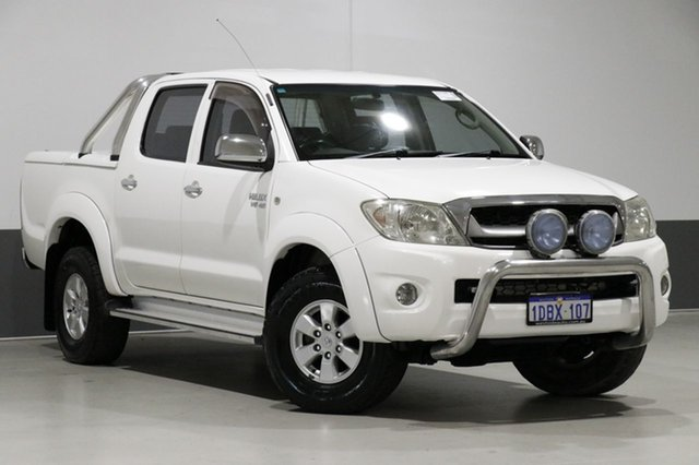 Used Toyota Hilux GGN25R 09 Upgrade SR5 (4x4), 2009 Toyota Hilux GGN25R 09 Upgrade SR5 (4x4) White 5 Speed Automatic Dual Cab Pick-up