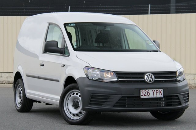 Demo Volkswagen Caddy 2KN MY19 TSI220 SWB DSG, 2018 Volkswagen Caddy 2KN MY19 TSI220 SWB DSG Candy White 7 Speed Sports Automatic Dual Clutch Van