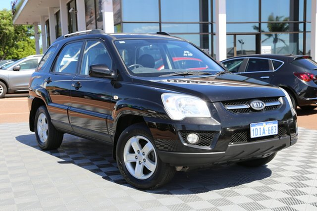 Used Kia Sportage KM2 MY10 EX, 2009 Kia Sportage KM2 MY10 EX Black 6 Speed Manual Wagon